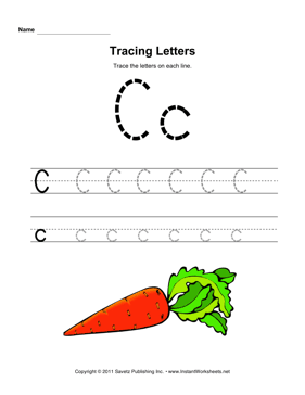 Common Worksheets » Trace The Letter C - Preschool and ...