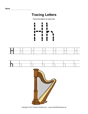 Tracing Letters H