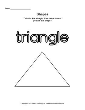 math worksheet : triangle shape  instant worksheets : Triangle Worksheets