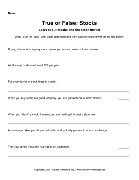 True Or False Stocks