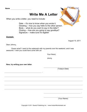 Write A Letter