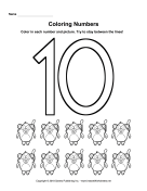 Coloring Numbers Ten