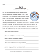 Earth Comprehension