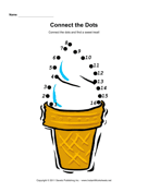Ice Cream Connect Dots