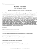Important Women Comprehension Harriet Tubman
