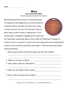 Mars Comprehension