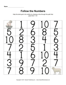 Maze Numbers