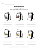 Mystery Bags Describing Words