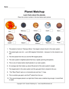 Planet Matchup