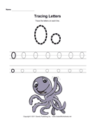 Tracing Letters O
