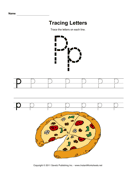 Tracing Letters P