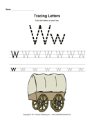 Tracing Letters W