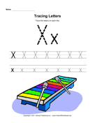 Tracing Letters X