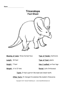 Triceratops Fact Sheet